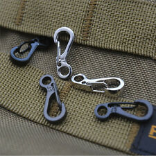 5X Spring SF Hooks Carabiner Key Chain Clip Hook Outdoor Buckle EDC Small y1