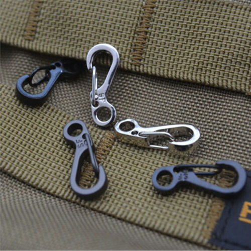 5X Spring SF Hooks Carabiner Key Chain Clip Hook Outdoor Buckle EDC Small FOUK