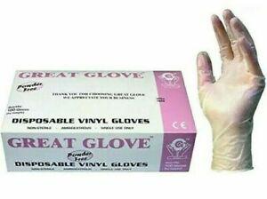 GREAT Glove Vinyl Powder-Free Gloves 100Pcs
