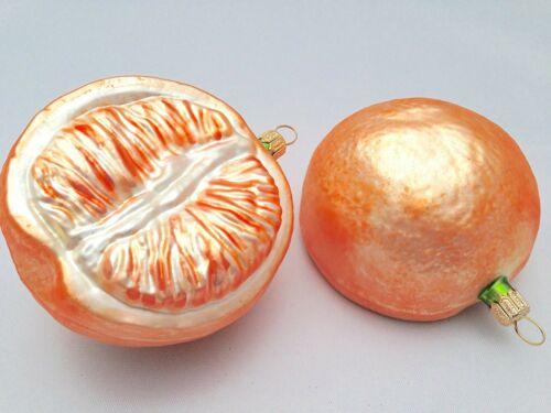 2x Orangen Weihnachtsschmuck Hänger Weihnachten Christbaumschmuck