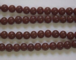 8mm Brown Round Beads