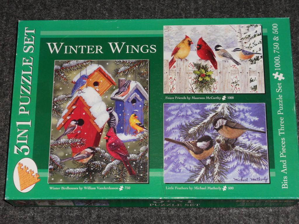 Bits & puzzle - stcke  winter flgel  - 3 in 1 wurde bereits im besitz