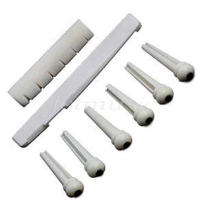 Set-Real-bone-Acoustic-Guitar-Abalone-Dot-Bridge-Pins-Saddle-Nut-For-Folk-Parts