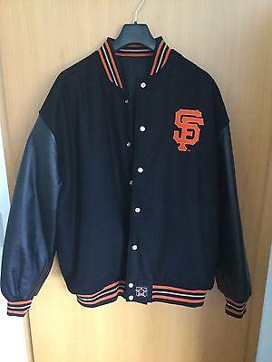 Beliebte Marke San Francisco Giants Jh Design Wool Jacket 3xl Two-tone Black/black Sport
