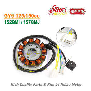 TZ-35-125cc-150cc-Stator-12-Pole-DC-Magneto-Coil-GY6-Parts-Chinese-Scooter-Motor