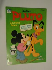 Vintage Whitman Coloring Book Disney S Pluto Coloring Books Unused Ebay