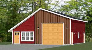 Details About 34x42 1 Rv Garage 1 Bedr Apartment 1 400 Sq Ft Pdf Floor Plan Model 2f