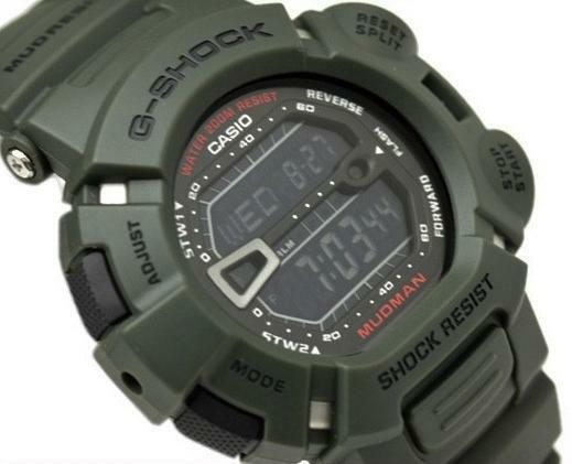 CASIO G-SHOCK MUDMAN G9000-3V G-9000-3V, MUD DIRT RESISTANT, ARMY MILITARY GREEN