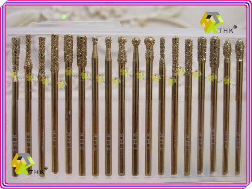 "3//32/"" Arbre 30 revêtement titane Grit 60 THK Diamond Rotary bavures points 2.35 mm"