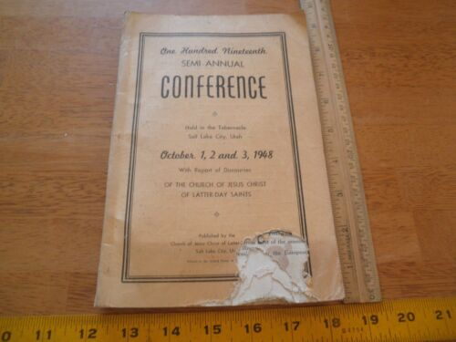 1948 Church of Latter Day Saints conference book Utah Mormon George Albert Smith