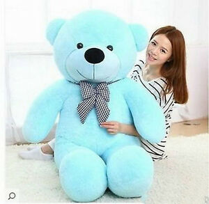 "hot! 63''/160cm ''blue""Teddy Bear Giant Huge Big Stuffed Plush Soft gift toy"