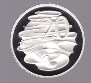 1991-Sterling-SILVER-Proof-20-Cent-Platypus-Coin-Australia