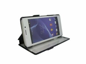 Roxfit-Sony-Xperia-Z3-Clear-Front-Stand-Book-Case-Touch-Nero-Black