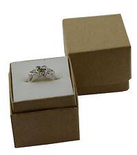 10 Carta Kraft Presentazione gioielli anello scatole 4.5cm x 4.3cm x 4cm di profondità