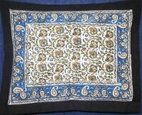 Reversible Pillow Sham Beautiful Cotton Kalamkari Design 28 X 24