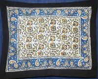 Reversible Pillow Sham Beautiful Cotton Kalamkari Design 28 X 24