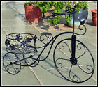 Outdoor Indoor Pot Plant Stand Garden Metal Bike Bicycle Pot Stand Black