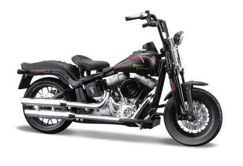 Harley-Davidson 2008 Flstsb Cross Bones Nero OPACO Scala 1:18 Von Maisto