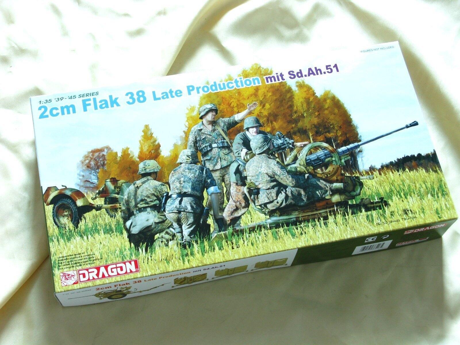 Dragon 6546 1 35 2cm Flak 38 Late Production mit Sd.Ah.51