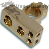 0 4 & Two 8 Gauge Negative Battery Terminal Car Amp Install Gold on sale