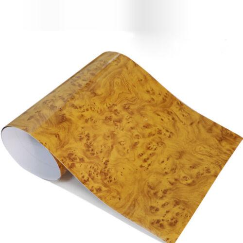 Wood Grain Textured Vinyl Wrap Sticker Decal Self-adhesive Car Internal Stickers