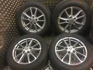 PORSCHE-CAYENNE-R18-WHEELS-ALLOYS-SET-8J-ET53-958-With-Winter-Tyres-7P5601025