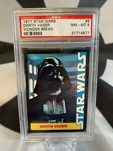1977 Wonder Bread Star Wars #5 DARTH VADER PSA 8 NM-MT