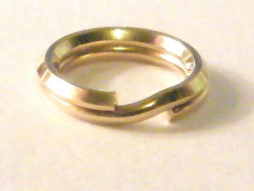 Oro Amarillo 9ct 5mm anillo de split-fácil de adjuntar encantos llavero encanto de estilo enlace