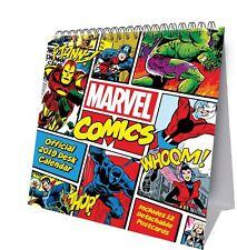 Official 2019 Marvel Comics Desk Easel Calendar Gift Present Table Flip Standing