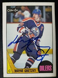 1987-88-OPC-53-Wayne-Gretzky-Autographed-Card-Edmonton-Oilers