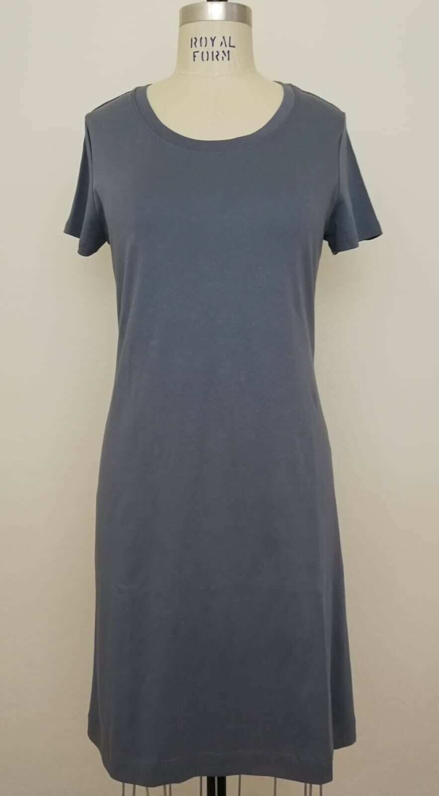 Theory damen Liliana Classic Cutout Back Tee Dress Spring Navy  Sz M