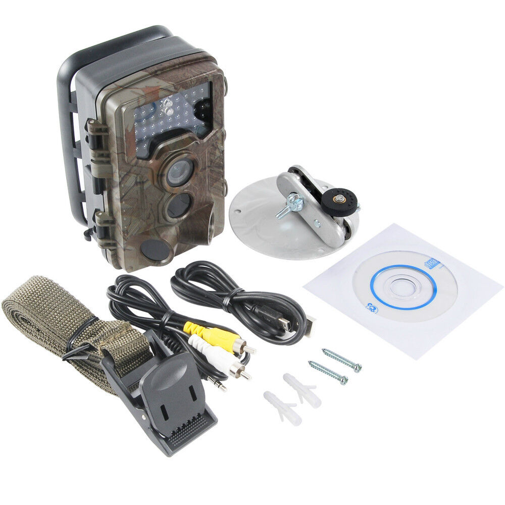 12MP 1080P Full HD IP56 IR Night Vision Motion Activated  Hunting Trail Camera  factory direct sales