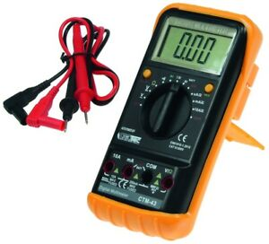 Digital-Multimeter-034-CTM-43-Big-034-mit-Gummiholster-Hold-Funktion-Strom-Messgeraet