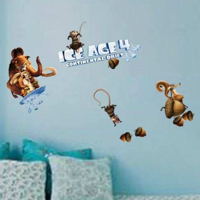 ICE AGE 4 Wall Decor Vinyl Decal Sticker Removable Nursery kids MANUAL DIY #2