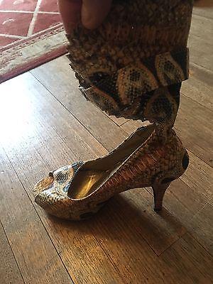 Talla 38 (5) Imitación Piel De Serpiente Sandalias Towie/bohemio/verano/Vacaciones Nuevo PVP £ 65
