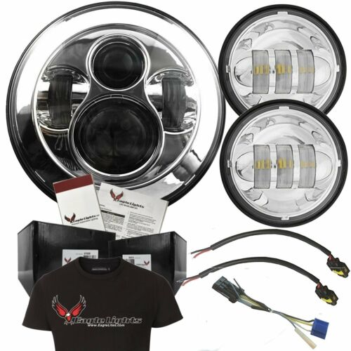 Eagle Lights 7 Chrome LED Passing Light Kit w/ Passing Lamps and Adapter Plug