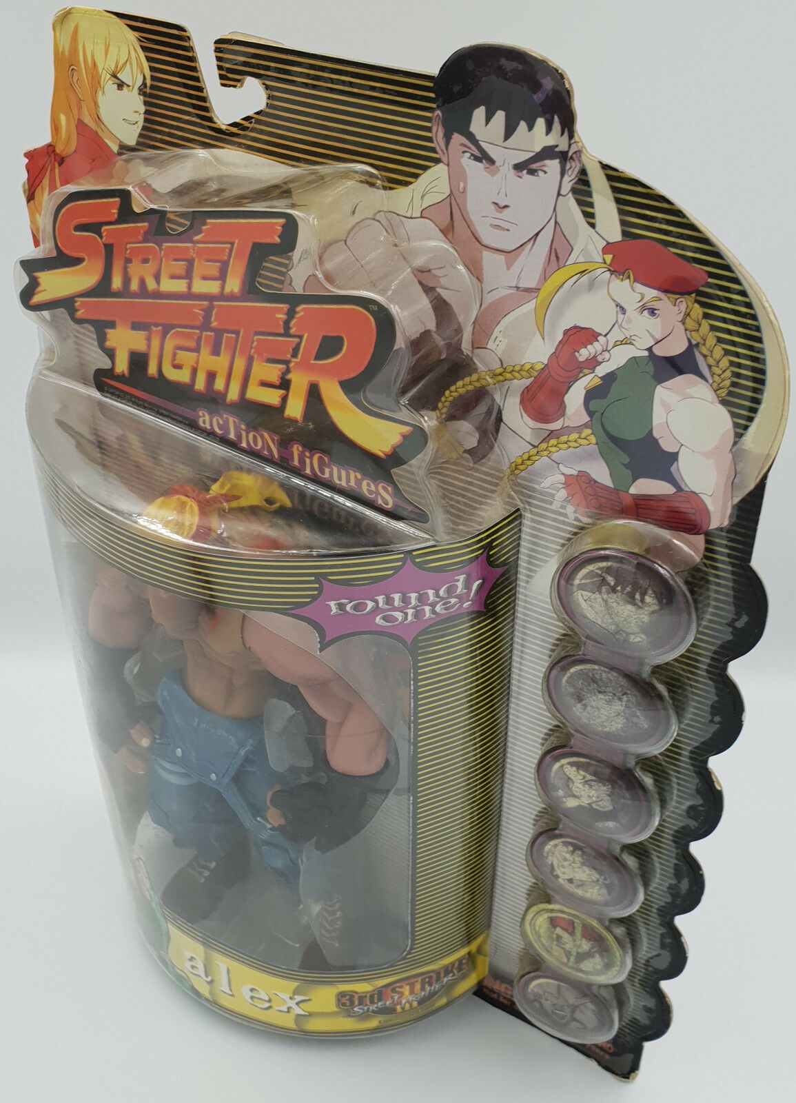 STREET STREET STREET FIGHTER   ALEX PLAYER TWO ACTION FIGURE MADE BY BAN DAI IN 1999 (BY) 9baa57
