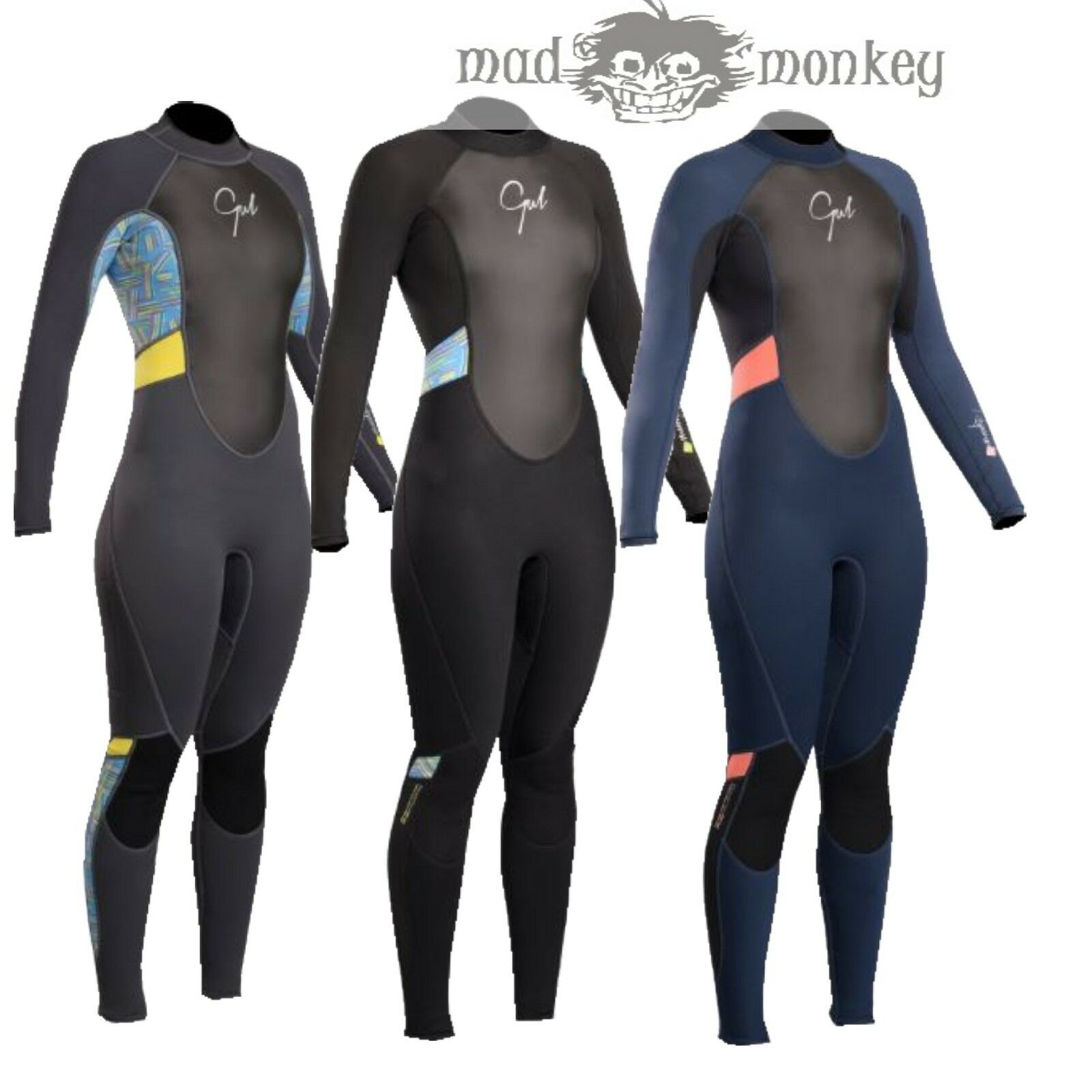 GUL RESPONSE LADIES 3 2MM FL WETSUIT - steamer 3mm kayak jetski diving scuba