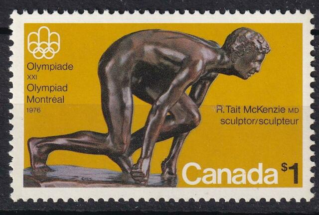 Canada 1975 Olympics $1 The Sprinter, MNH sc#656i dull paper