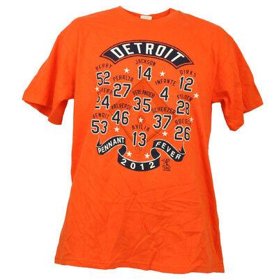 Fanartikel Neueste Kollektion Von Detroit Tigers Wimpel Fever 2012 Verlander Jackson Berry Spieler Orange T-shirt Angenehm Zu Schmecken
