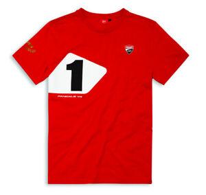 DUCATI-Corse-T-Shirt-Panigale-V4-916-Edition-T-Shirt-Limited-Foggy-rot-NEU