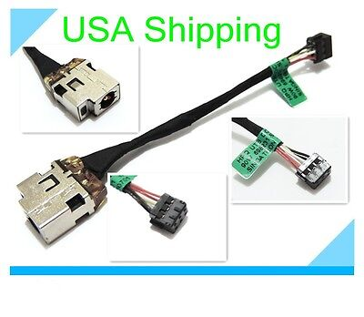DC power jack in cable harness for HP Pavilion Sleekbook 15-b160sa 15-b161nr