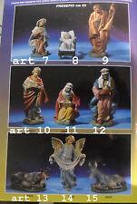 pastori 53 cm  art 14 angelo,gomma dura presepe shepherds made italy 50 cm