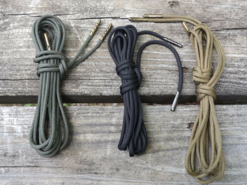 Kelly Green Boot Laces *Guaranteed for Life* 550 Paracord Steel Tip Shoelaces