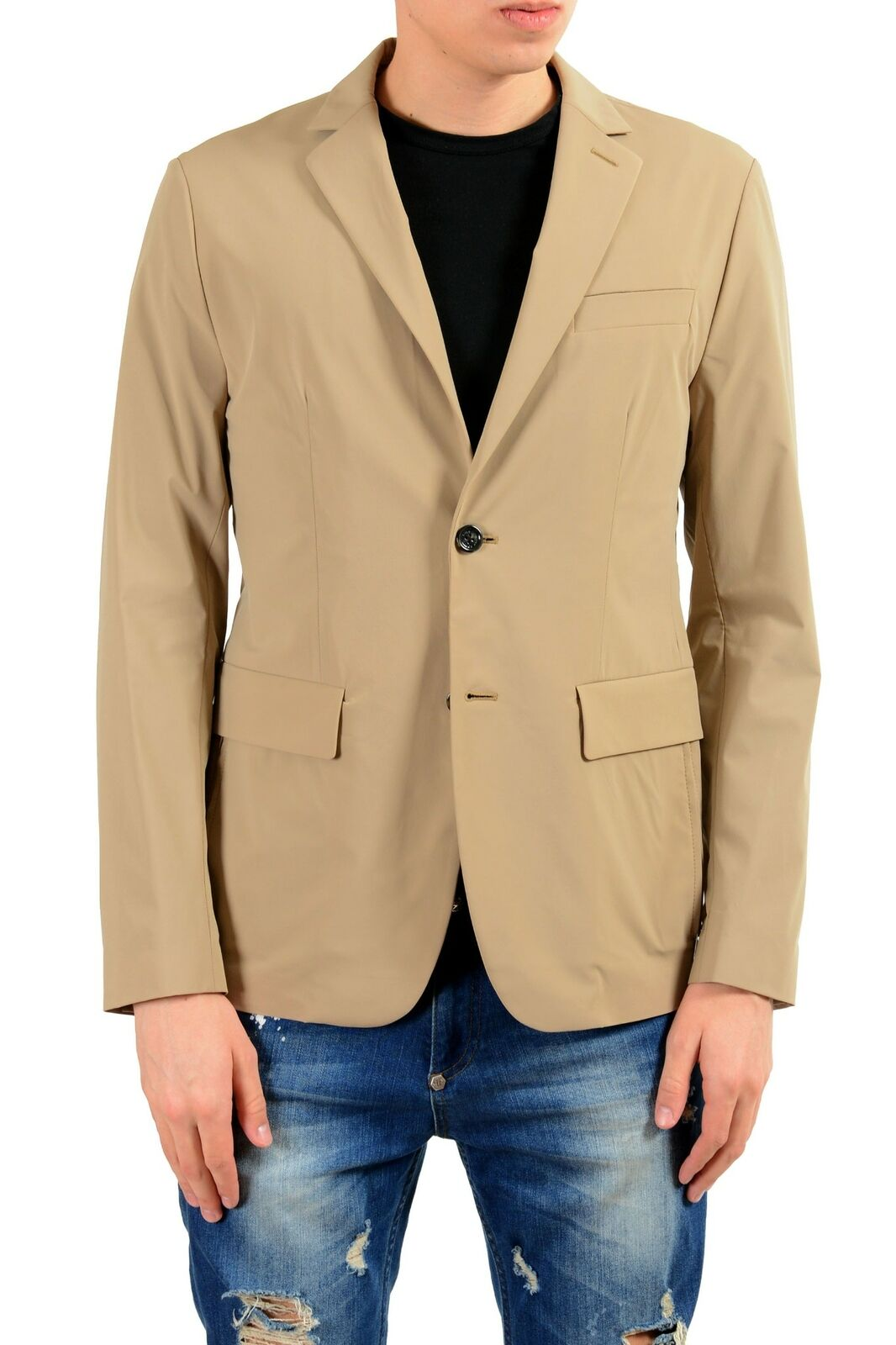 Hugo Boss Zoll Nelton Herren Wasserabweisend Beige Blazer Sport Mantel Us 38r It   | Wirtschaft