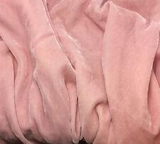"Silk VELVET Fabric BABY PINK 6""x22"" remnant"