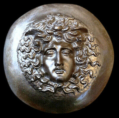 Archaic Greek Medusa plaque Dark Bronze Finish Replica Reproduction