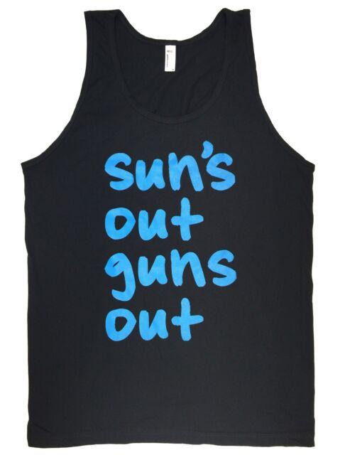 AMERICAN APPAREL Suns Out Guns Out TANK TOP 22 Jump Street 21 Tanktop shirt