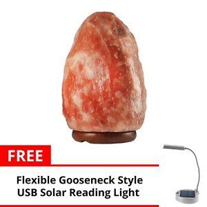 Keimav Natural Shape Himalayan Salt Lamp Light Dimmer w Solar Table Lamp
