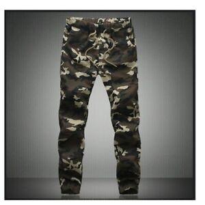 Pantalones de Camuflaje Ch/ándal Sueltos con Bolsillos Deporte de los Hombres de la Moda Pantalones de Jogging Fitness Leggings El/ástica Gimnasio Deportes Pantalones